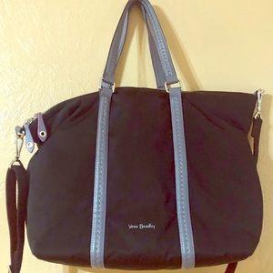Vera Bradley black nylon crossbody/Shoulder bag